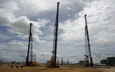 Pile driving and Civil works for Tank foundations