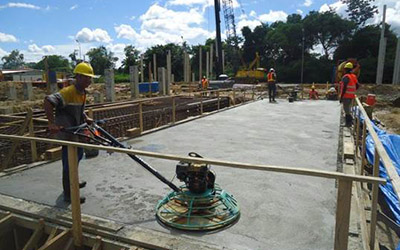 Early site Construction, New Embassy Compound, Paramaribo